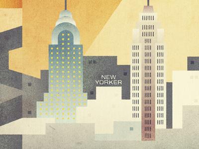 New York new york city illustration propaganda buildings