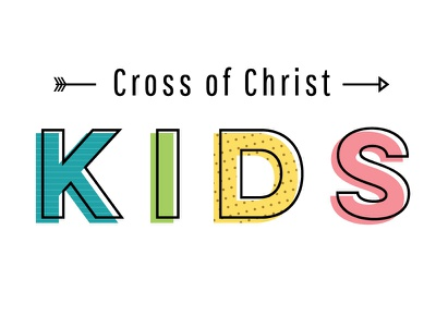 Church Kid's Ministry primary colors arrow logo youth