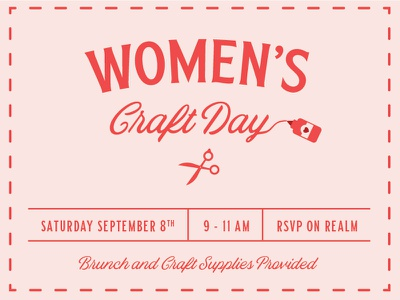 Women's Craft Day brunch church glue scissors women day craft