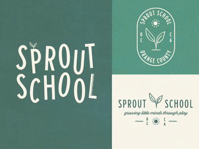 Sprout School california orange county branding sun logo sun plant ruler school sprout