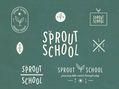 Sprout Scool Logo Exploration orange county california plant ruler homeschool preschool sprout school logo branding