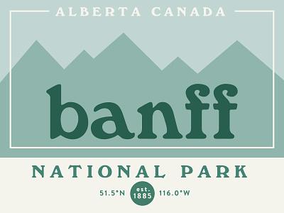 Banff National Park mountains coordinates alberta canada national park banff