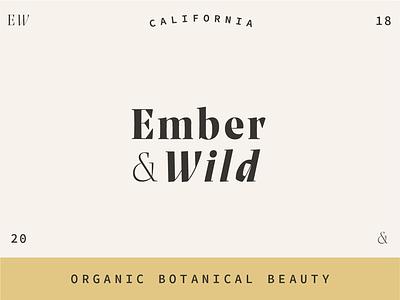 Ember & Wild logo botanical wild ember branding beauty