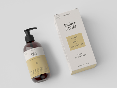 Ember & Wild Packaging box soap beauty logo packaging branding