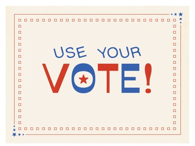 Use Your Vote usa america elections vote