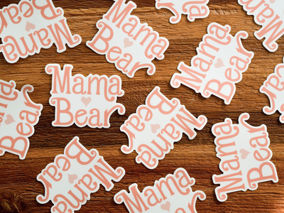 Stickers mother bear mama stickers sticker mule