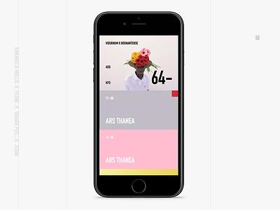 Flower #8 ux ui mobile grid concept berlin
