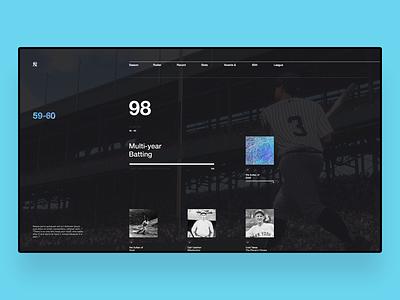 NY27 – 59–60 baseball yankees new york swiss grid concept ux ui