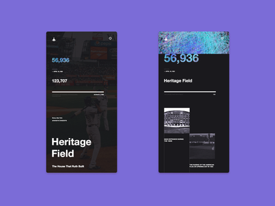 NY27 – heritage field mobile baseball yankees new york swiss grid concept ux ui