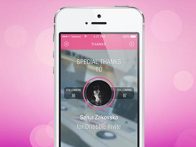 Thank you, Sanja! debut ui app interface ios