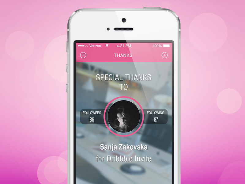 Thank you, Sanja! debut ui app interface ios
