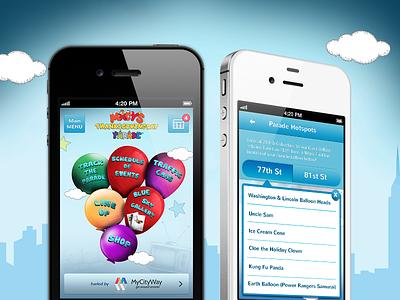 Macy's thanksgiving day parade 2012 ui app interface ios