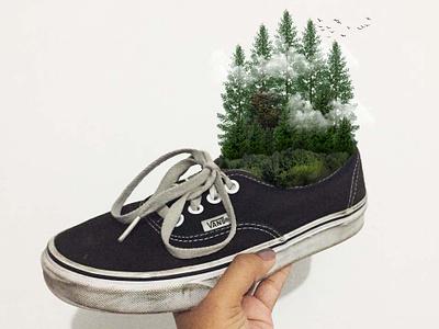 forest animation design surealism digital imaging illustration digital arts