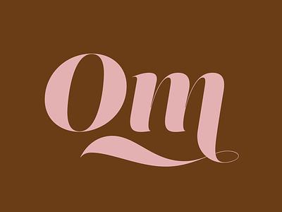 Om poster linda gobeta graphic design design typographyart typogaphy type spiritual yoga om