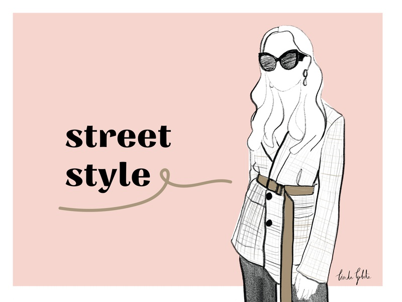 Street style | fashion illustration