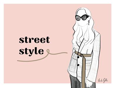 Street style | fashion illustration postcard street style sunglasses fashion illustration design adobe graphic design typography linda gobeta fashion wall art poster illustration
