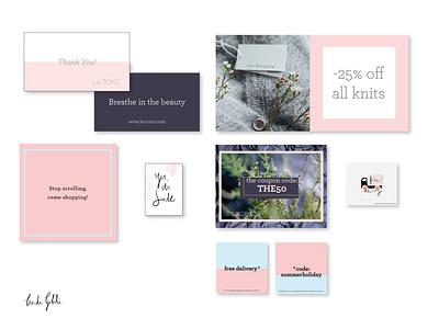 Graphic design for online store flyer design social media graphic design intsgram post design social media design business card fashion illustration ecommerce shop ecommerce design graphic design