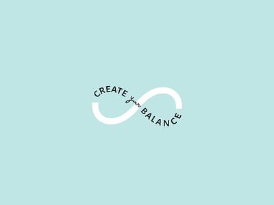 Create your balance - branding postcard design flyer design social media pack social media design linda gobeta graphical illustration typography design graphic design logo branding