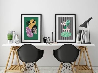 Tropical illustration posters