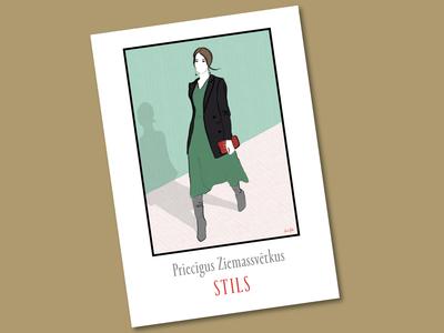 Fashion illustration card