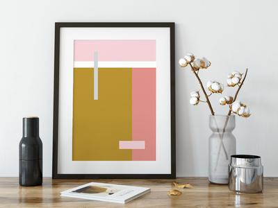 Colour blocks wall art