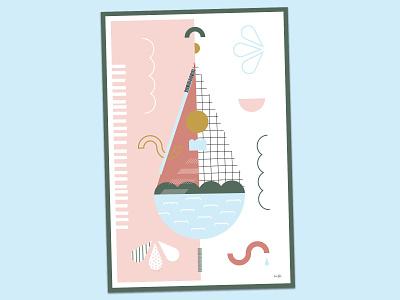 Viva con Agua Charity x Juniqe print graphic design design vector flat graphical water drop linda gobeta illustration wall art water clean water for all print poster juniqe viva con agua charity