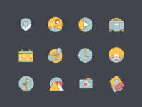 Travel - icon set