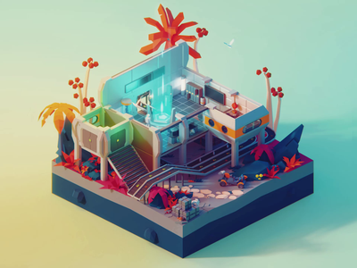 Low Poly Worlds: Crafting automation