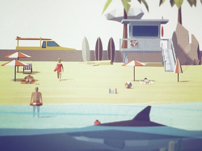 Low Poly Baywatch game unity3d assetstore illustration darkfejzr models 3d lowpoly poly low baywatch