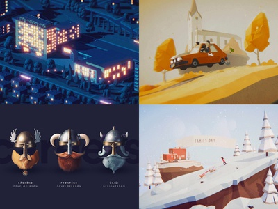 #Top4Shots on Dribbble from 2018 hiring blender game animation illustration unity lowpoly 2018 dribbble