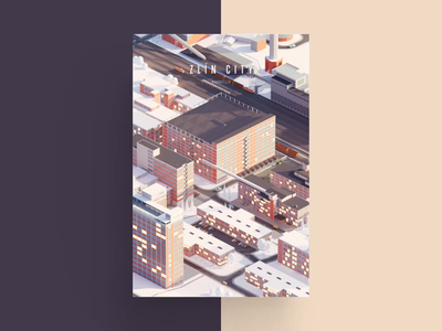 Low Poly City AR Posters illustration ar animation polygon lowpoly poly low city zlin