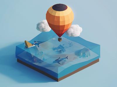 Low Poly Worlds: Sunken Treasure