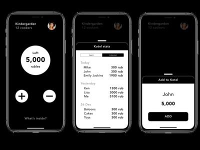 Kotel app screens (iPhone X)