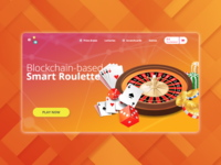Landing page concept for a gambling