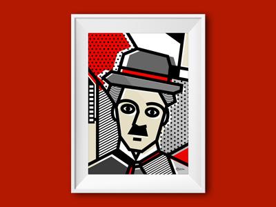 Abstracts 101: Famous Portraits: Chaplin charlie chaplin de stijl pop art geometry gallery illustration vector shapes patterns portrait abstract