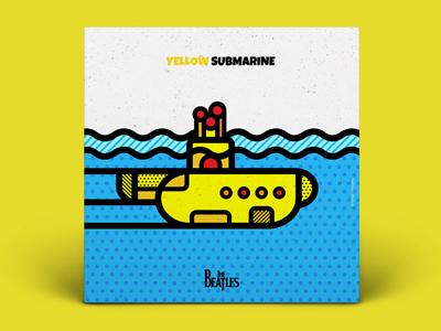 The Beatles - Yellow Submarine pop art album yellow submarine vector covers music geometric beatles