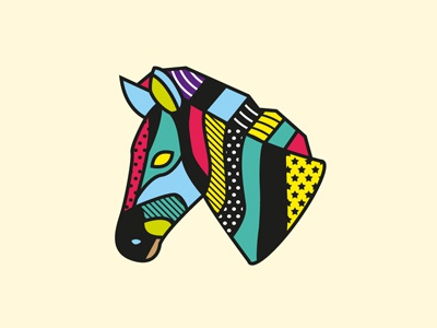 Zebra pop art fashion zebra illustration vector patterns animal geometric