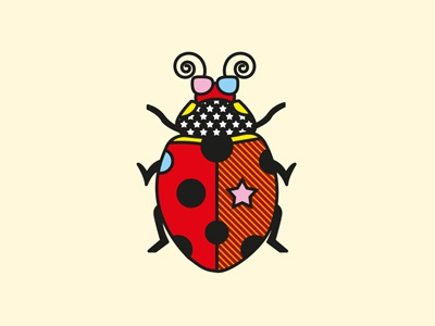 Ladybug pop art vector patterns insect illustration geometric ladybug fashion