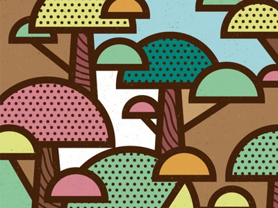 The Forest vector art pop nature trees illustration geometric forest