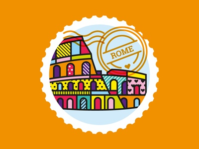 Rome vector art pop patterns colosseum rome illustration geometric fashion