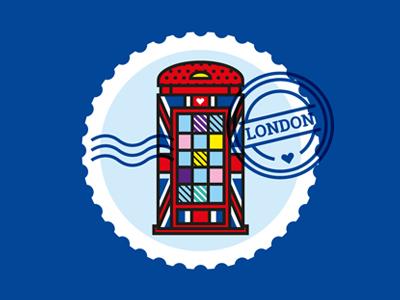 London pop art phone booth vector patterns illustration geometric fashion london
