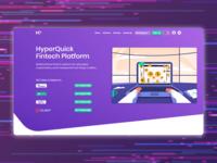 Fintech platform landing page