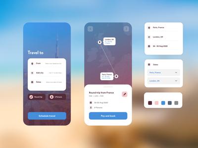 Travel scheduler | Mobile App UI travelapp uidesign uiuxdesign uiux flatdesign flat minimal appui mobileapp