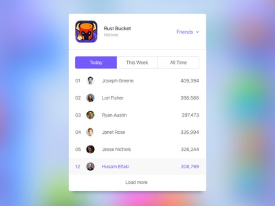 Shot 088 - Leaderboard icon order app retro game inteface user ui switch toggle list ranking