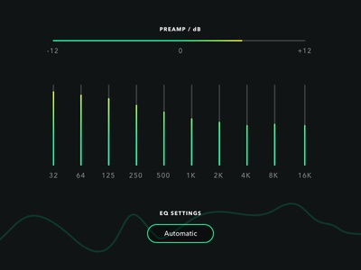 Shot 090 - Equaliser clean minimal interface user ui visualisation data graph bars levels player music