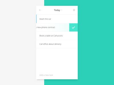Shot 093 - To Do grid typography task light clean minimal checklist interface user ui app list