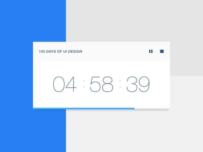 Shot 095 - Time Is Money widget rate project flat light minimal clean interface user ui digital clock