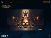 League of Legends Homepage Redesign Concept