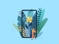 引导页插画-识别花