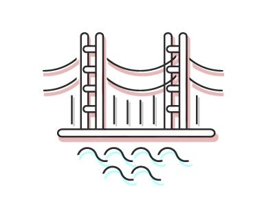 Golden Gate goldengate vector bridge